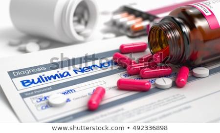診断 過食症 薬 3次元の図 医療 ぼやけた ストックフォト © tashatuvango