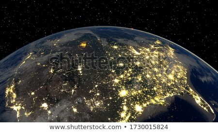 Stock photo: East USA from space