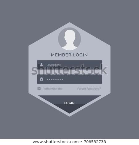 member login form ui template design in hexagonal shape Stock photo © SArts
