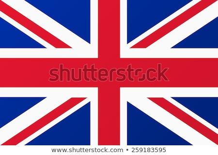 Foto stock: Pó · pintar · cores · reino · bandeira · isolado