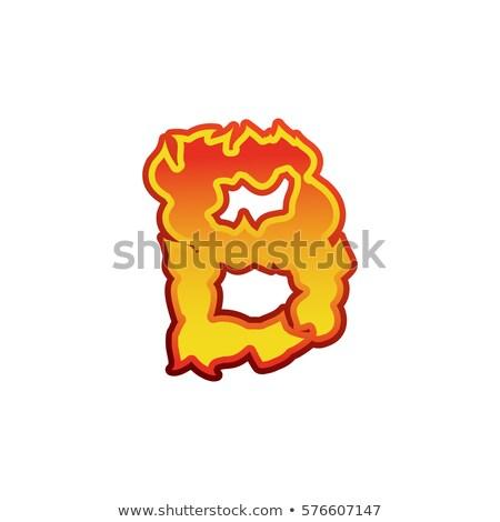 Foto stock: Carta · fogo · chamas · fonte · tatuagem · alfabeto