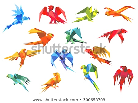 Abstract Symbol of Long Wing Bird Icon Stock photo © cidepix