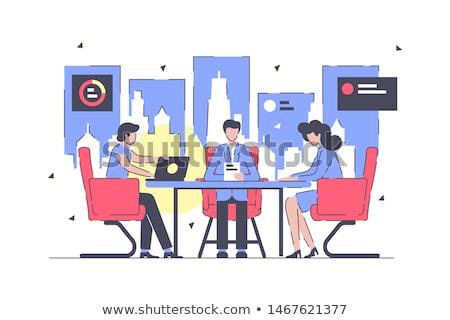 Müşteri kısa dizüstü bilgisayar modern işyeri Stok fotoğraf © tashatuvango