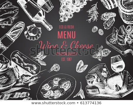 Restaurant  food and drinks menu, retro style Stock photo © Dimpens