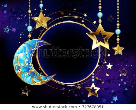 баннер ювелирные Jewel полумесяц золото Сток-фото © blackmoon979