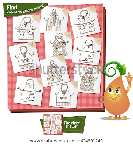 Find 2 identical kitchen aprons Stock photo © Olena