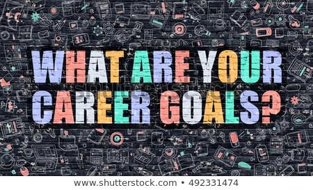 What are Your Career Goals on Dark Brick Wall. Stock photo © tashatuvango