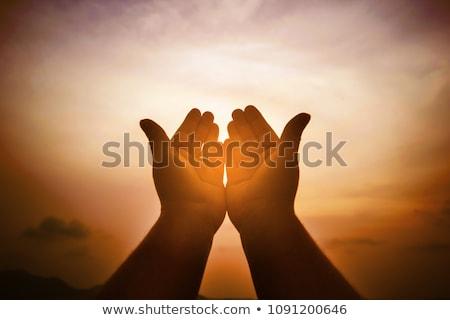 bênção · recém-casados · forma · mãe · mãos · ícone - foto stock © olena