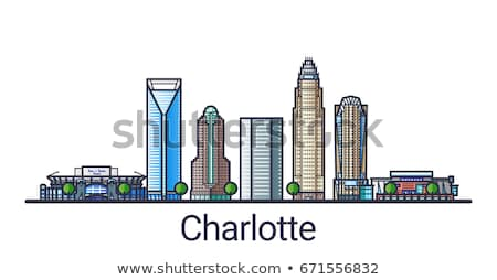 Flat line Charlotte banner stock photo © Yuriy
