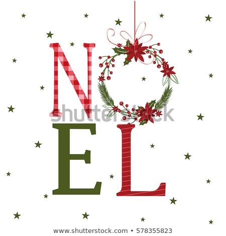 クリスマス 言葉 花 葉 液果類 ストックフォト © frescomovie