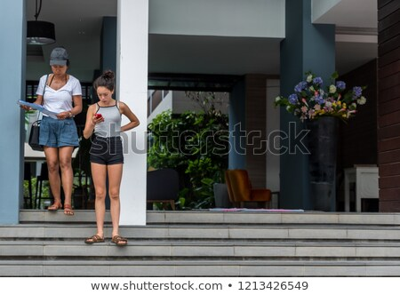 anne · kız · sevmek · ailelerin · gün · sonbahar - stok fotoğraf © is2