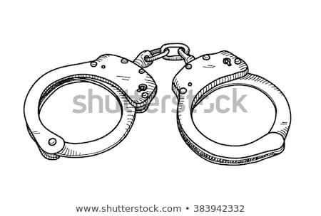 наручники эскиз икона веб мобильных Инфографика Сток-фото © RAStudio