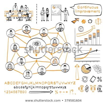 Work - Doodle Orange Text. Business Concept. Stock photo © tashatuvango