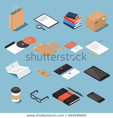 set of paper 3d glasses in isometric vector illustration stock photo © kup1984