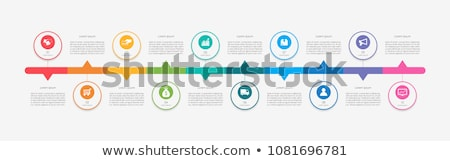 Vecteur chronologie modèle léger ligne Photo stock © orson