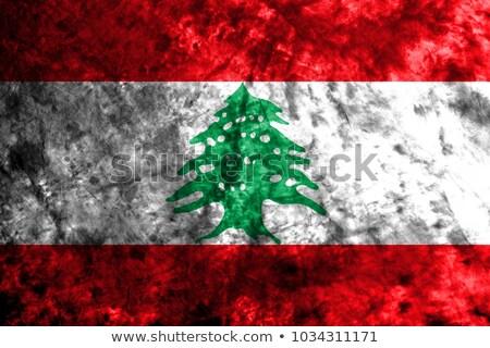 Futball lángok zászló Libanon fekete 3d illusztráció Stock fotó © MikhailMishchenko