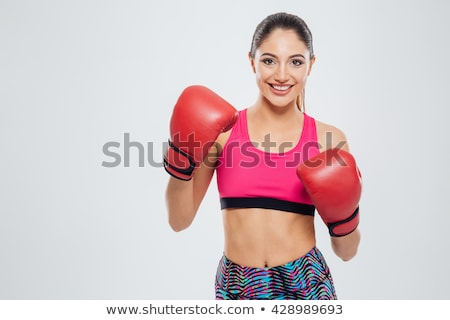 Girl Kick Boxing Stock photo © lenm