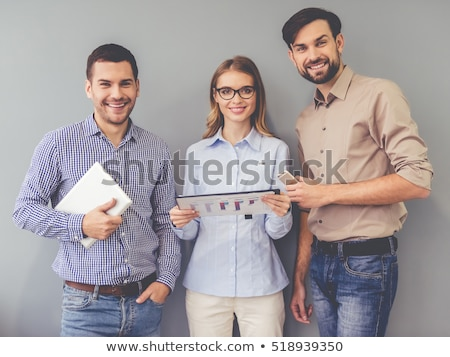 Portrait of three office girls. Stock photo © IS2