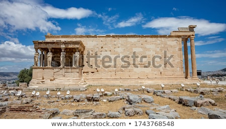the porch of the caryatids at the erechtheion temple on the acropolis athens greece stock photo © ankarb