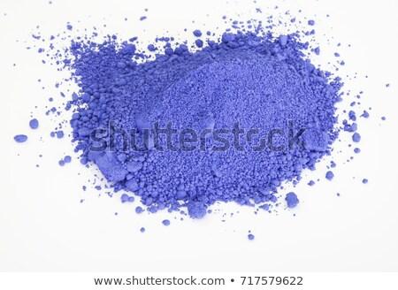 Beyaz güzel mavi parça yalıtılmış Stok fotoğraf © wollertz