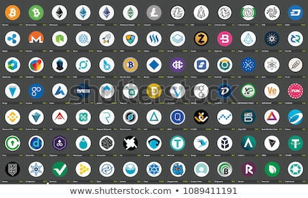 peercoin   cryptocurrency colored logo stock photo © tashatuvango