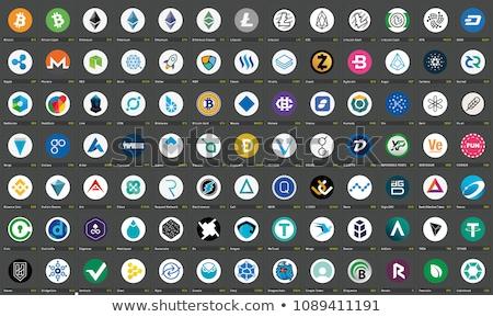 Színes logo vektor ikon név virtuális Stock fotó © tashatuvango