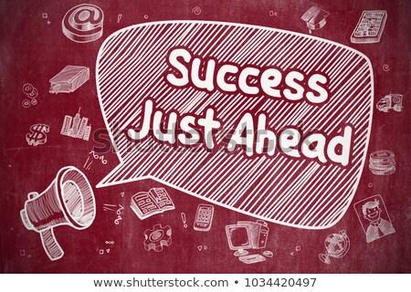 успех впереди болван иллюстрация красный доске Сток-фото © tashatuvango