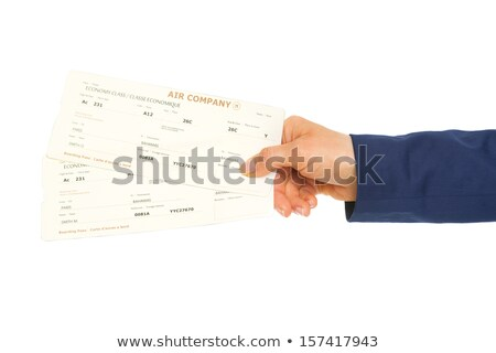 Stewardess handing travel ticket Stock photo © IS2
