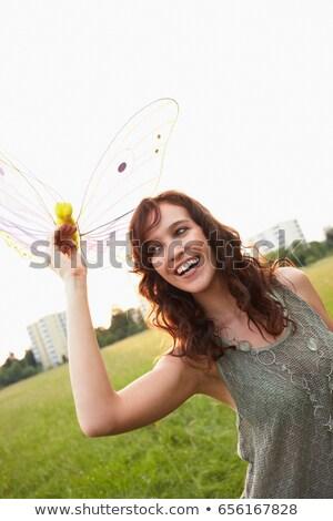 Photo stock: Femme · jouet · papillon · liberté