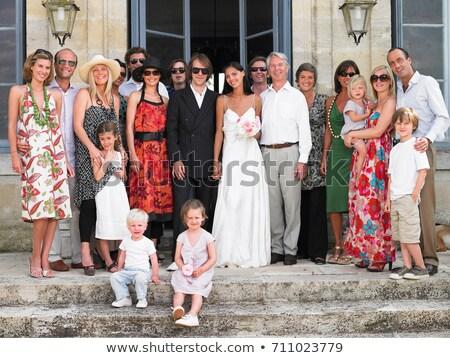 Familie · Gruppe · Hochzeit · Frauen · Sommer · Männer - stock foto © is2