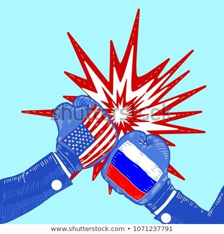 紛争 シリア ロシア 米国 長方形の ストックフォト © romvo