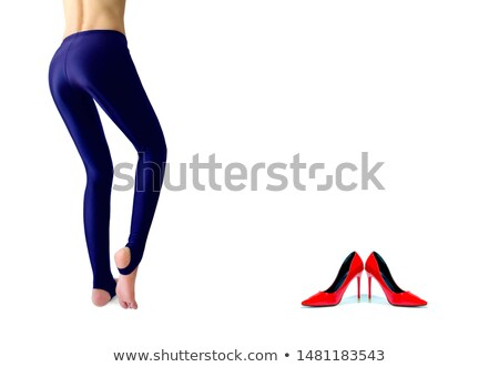healthy girl with fit body soft skin buttocks in red underwear stock photo © fotoduki