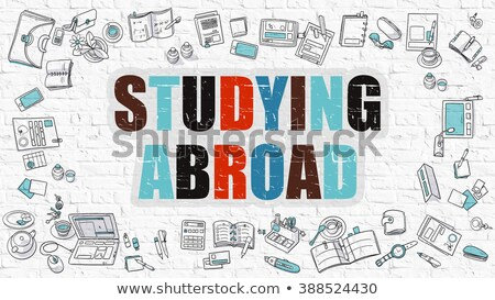 Estudar no exterior educação serviço amarelo Foto stock © tashatuvango