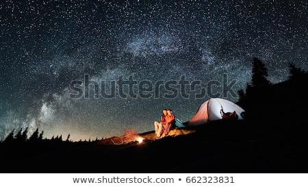 at · yangın · ahşap · sanat · yakıt · volkan - stok fotoğraf © dotshock