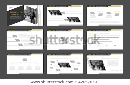 ingesteld · business · ontwerp · Geel · grijs · abstract - stockfoto © Diamond-Graphics