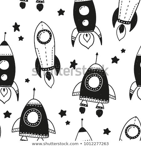 Astronauta czarny przestrzeni wektora ludzi Zdjęcia stock © popaukropa