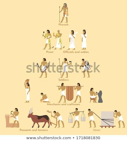 Trono superior pirámide arte pop retro Foto stock © studiostoks