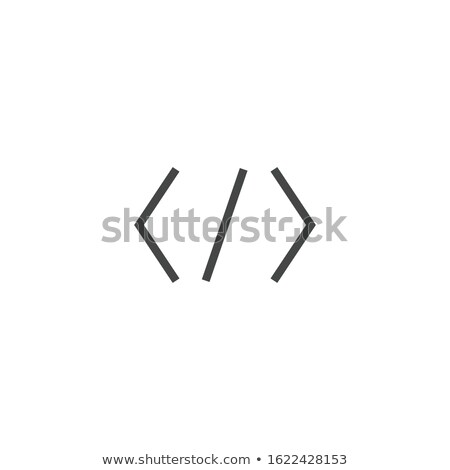 coding icon or symbol, coding software, web ui, vector illustration isolated on modern background. Stock photo © kyryloff
