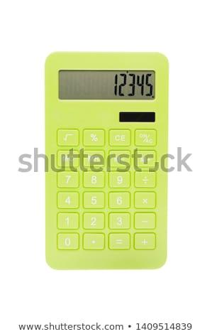 зеленый калькулятор изолированный белый фон Сток-фото © kravcs