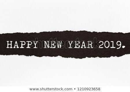 New Year 2019 Ripped Paper Concept  Stock photo © ivelin