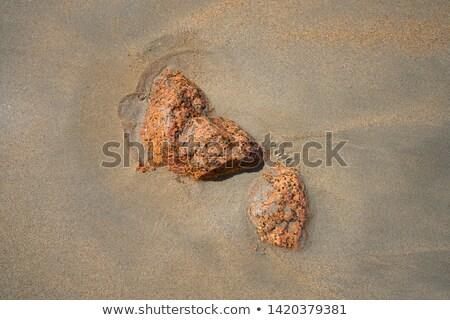 Granito pietra spiaggia di sabbia shore Spagna abstract Foto d'archivio © lunamarina