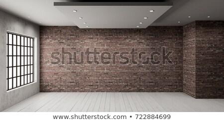 зале чердак стиль интерьер кирпичных стен Сток-фото © bezikus