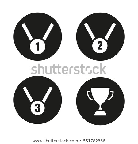 1st Place Medal for Champion Monochrome Logotype Stock photo © robuart