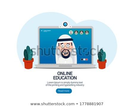 Muszlim diák iskola érettségi illusztráció nő Stock fotó © artisticco