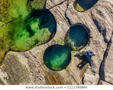 Relaxing poolside, at the seaside and coastal rock pools Stock photo © lovleah