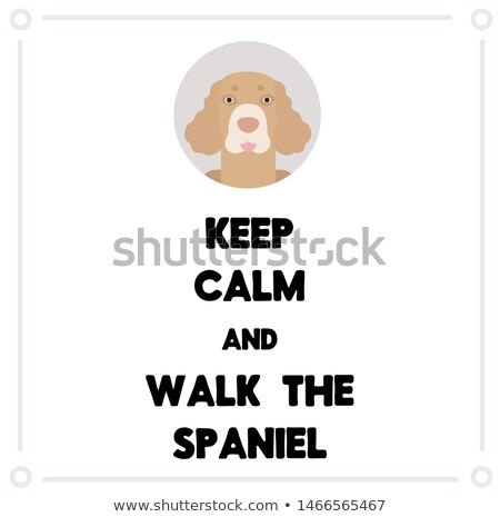 Cartoon Cocker Spaniel Walking Stock photo © cthoman