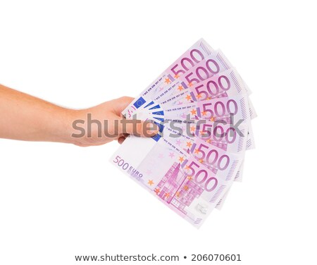 Hand holding a fan of Euro banknotes. Stock photo © RTimages