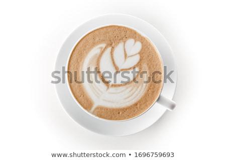 Csészék cappucchino trendi formák kávé művészet Stock fotó © grafvision