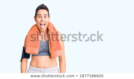 ストックフォト: 短い髪 · 女性 · セット · スポーツウェア