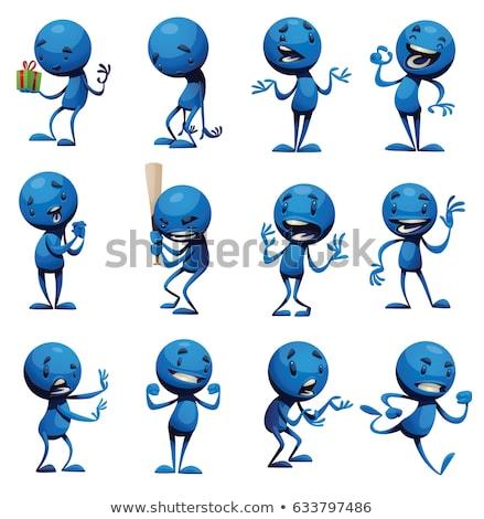Cartoon obcych człowiek uruchomiony ilustracja osoby Zdjęcia stock © cthoman
